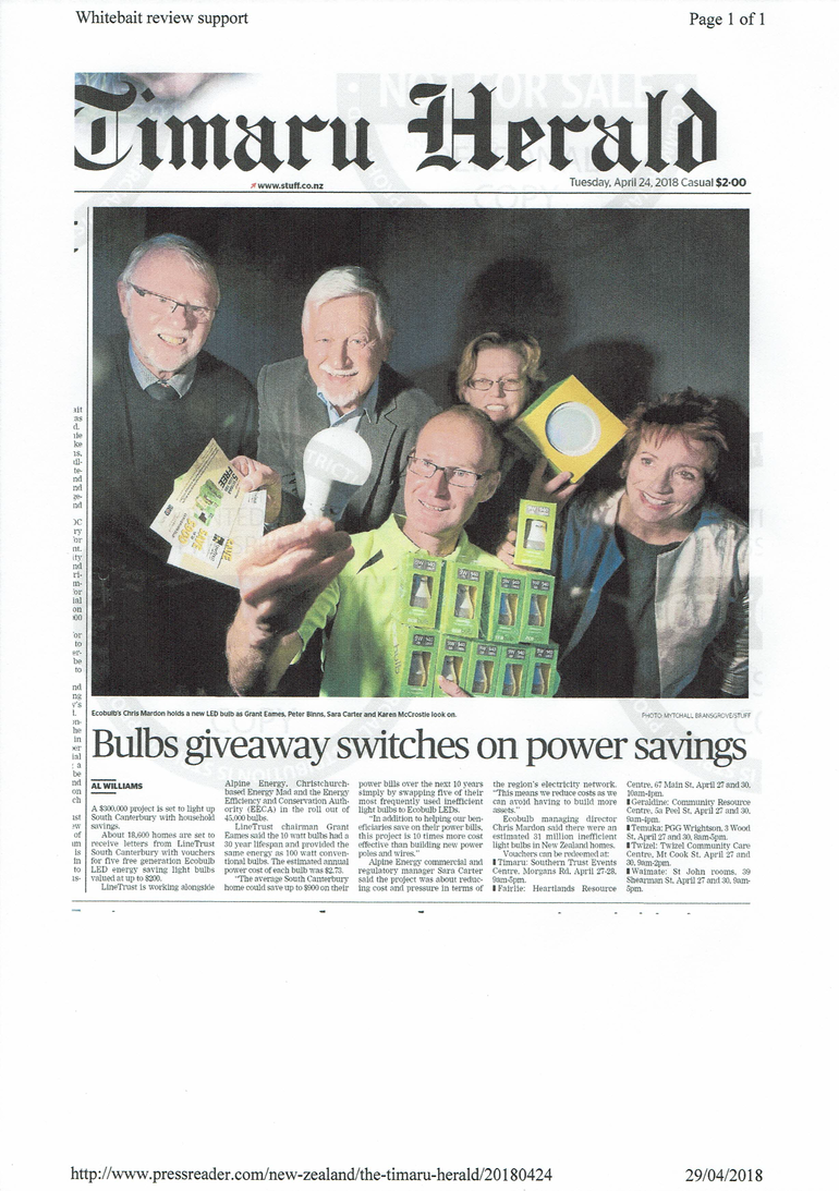 Bulbs giveaway switches on power savings